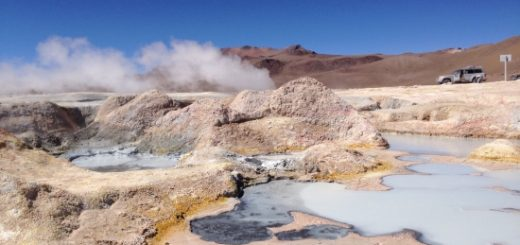 Salar de Uyuni, Bolivia, South America, high altitude geyser