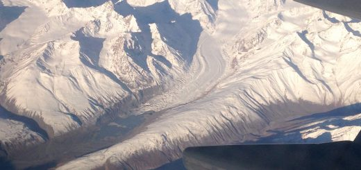 Ladakh Leh Flight Window View