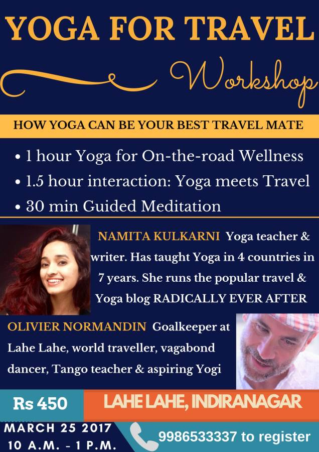 Yoga for Travel Workshop, Lahe Lahe, Bangalore