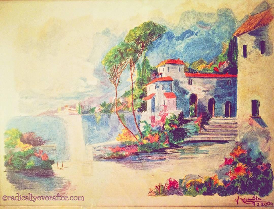 Oil pastel painting by Namita Kulkarni