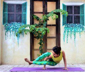 Astavakrasana, eight angle pose, arts village, radically ever after, arm balance