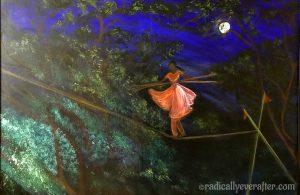 Balancing act, tightrope, Radically Ever After, balancing poses Yoga