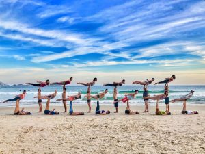 Yoga, AcroYoga on the beach
