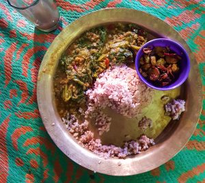Majuli island food, Mising village