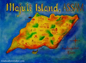 Majuli Island Map Assam India